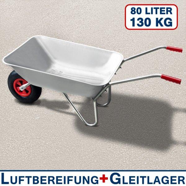 Verzinkte Schubkarre 80 LITER / 130 kg Zuladung für 23,95€ frei Haus @EBAY