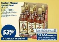 [Real] 6 Flaschen 0,7l Captain Morgan für 53€ (8,83€/Flasche)