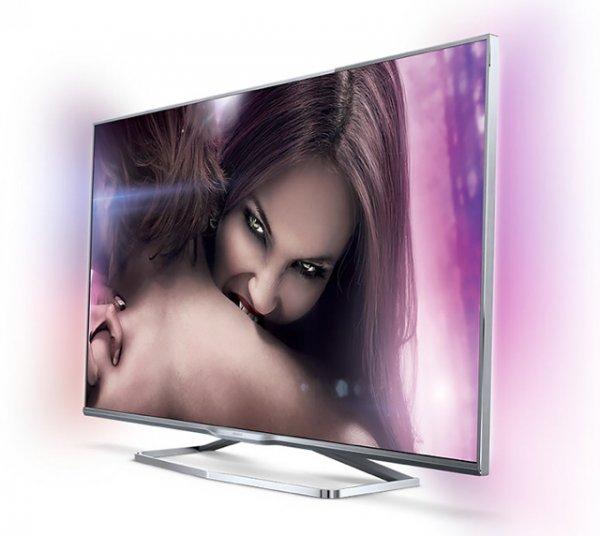 Philips 42PFK7109 Ultraflacher Smart 3D LED-TV mit Ambilight und 600Hz