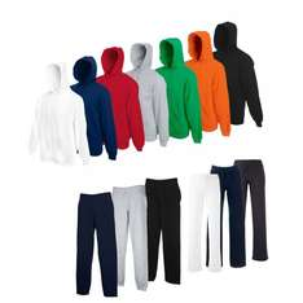 FRUIT OF THE LOOM Hausanzug Jogginghose Kapuzensweatshirt Größe S M L XL XXL NEU @ Ebay WoW Simbuy