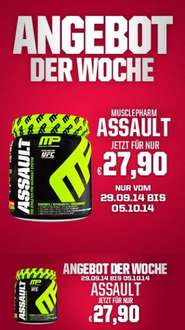 Musclepharm Assault 435g für 27,90 € (-2 €/-7% unter best price Idealo)