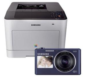 Samsung CLP-680DW + Samsung DV150F Smart-Kamera + Samsung S5301 (Smartphone) + evtl. 150€ Cashback für 299€
