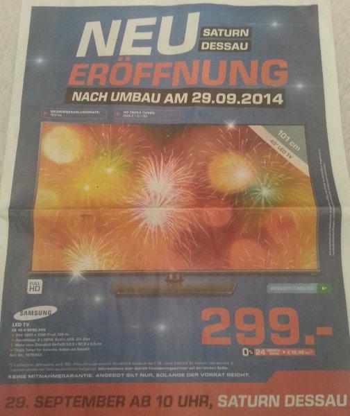 Samsung 40 H 5090 ASX LED TV für 299€ - Saturn Dessau-Roßlau Neueröffnung nach Umbau