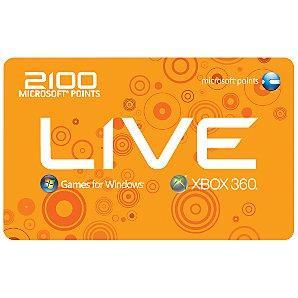 Xbox Live 2100 Microsoft Points für 17,09€ @eBay