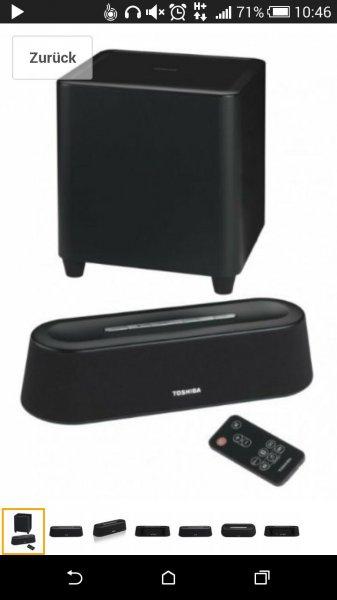 Toshiba SBM1W Mini 3D Soundbar mit Subwoofer