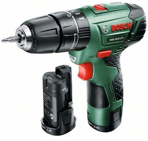 Bosch PSB 10,8 LI-2 mit 2 Akkus (0 603 983 901) für 105,14€ @Amazon.fr