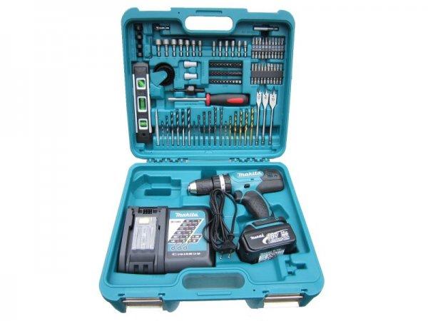 [ebay] Makita DHP453 18V 3AH Akku-Schlagbohrer + 101-tlg. Makita Bit-/Bohrer- und Werkzeugset, 209€