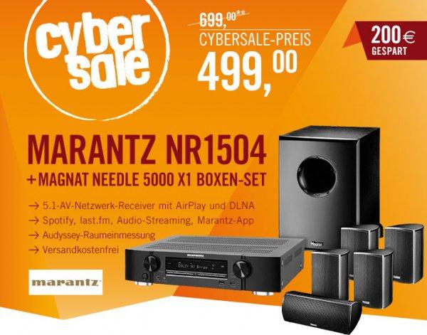Marantz NR1504 + Magnat Needle Alu 5000X1 für 499€ - 5.1 Receiver + 5.1 Lautsprecherset @ Cyberport