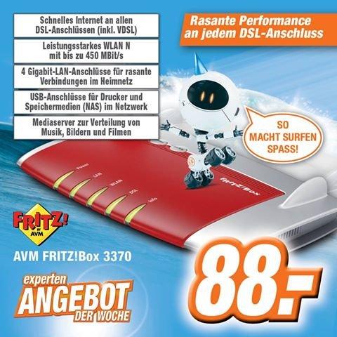 AVM Fritz!Box 3370 bei Expert Online/Offline für 88€