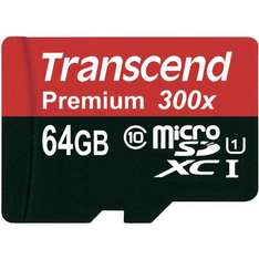 [Amazon Speicher Deal] Transcend Premium Class 10 microSDXC 64GB  27,99€