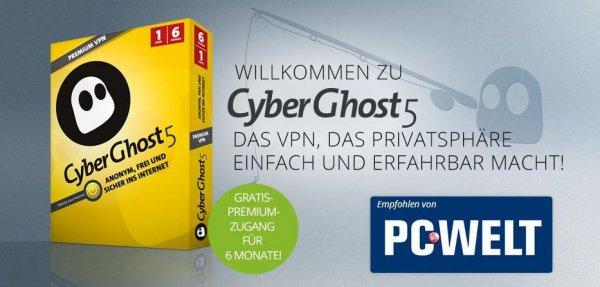 CyberGhost 5 Premium VPN 6 Monate kostenlos!