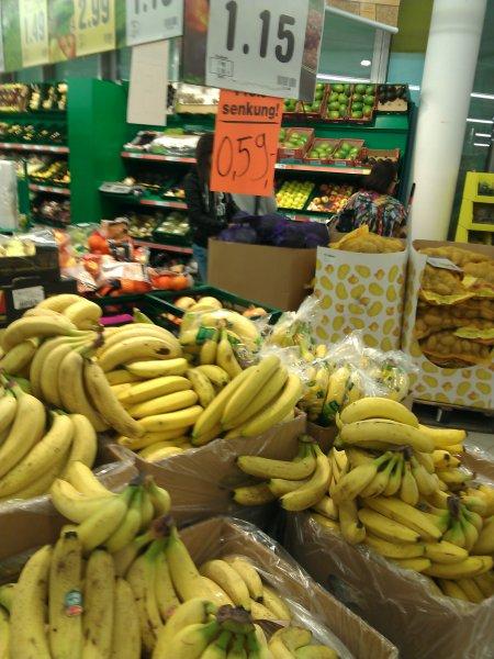 0,59€ pro Kilogramm Bananen bei Netto Stuttgart Rotebühlplatz/Stadtmitte