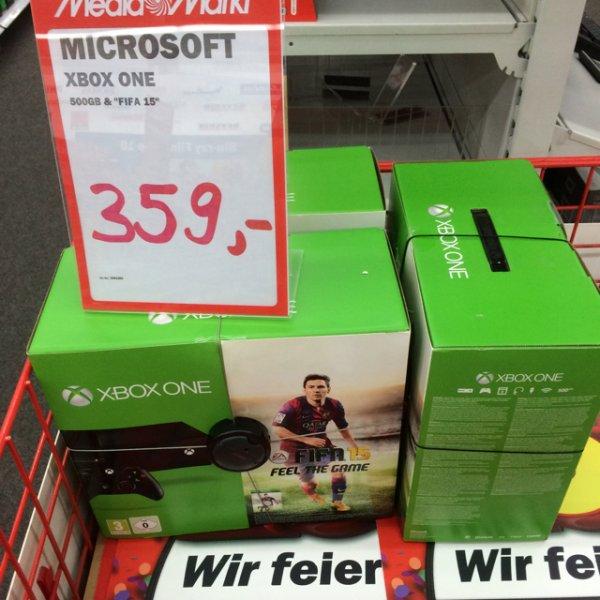 (Lokal Media Markt Mosbach) Xbox One 500GB ohne Kinect + FIFA 15 für 359 Euro