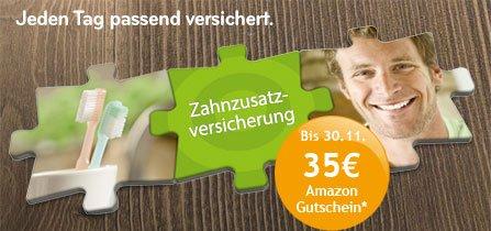Asstel Zahnzusatzversicherung mit 35 Euro Amazon Gutschein - 1 x im Jahr Zahnreinigung bis 100 Euro kostenlos
