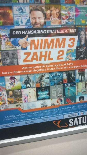 Saturn Köln Hansaring - 3 FÜR 2 auf ALLE Games,Musik,Filme und Software