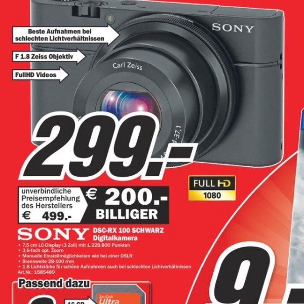 Lokal Mediamarkt weiterstadt - Sony rx100 für299€ - idealo ab 367€