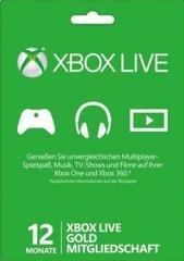 Xbox 12 Monate Gold Mitgliedschaft für 26,99 €