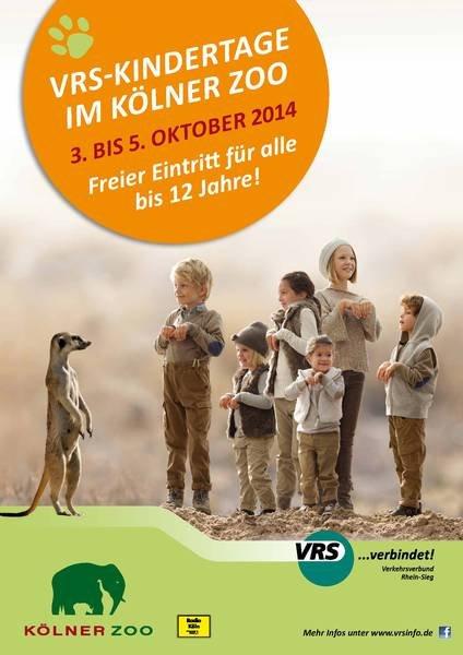 [Zoo Köln] vom 03.-05.10. freier Eintritt für alle bis 12j