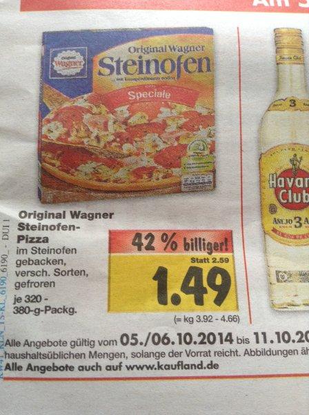 (lokal) Wagner Steinofen Pizza Kaufland Duisburg-Aldenrade