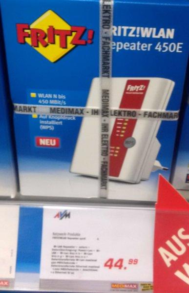 [deutschlandweit] [Medimax] FRITZ!WLAN Repeater 450E 10 Euro günstiger (ca. 18% Ersparnis)
