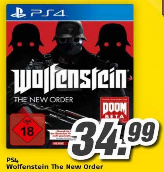 Sony PS4 - Wolfenstein: The New Order für €34,99 [@Medimax Bundesweit]