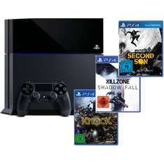 Sony Playstation 4 PS 4 500 GB Killzone: Shadow Fall, Knack & inFamous Second @ebay mit Payback 360€