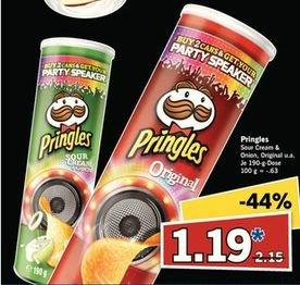 Pringles 190 Gramm Dose (Verschiedene Sorten) für 1,19€ am 11.10@LIDL Super Samstag