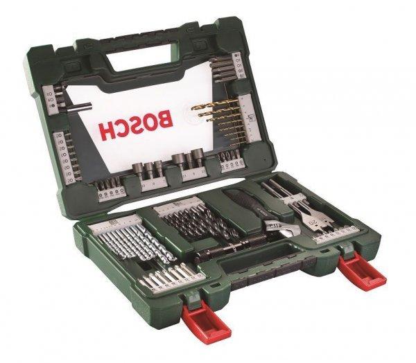 [ebay wow] Bosch 83-tlg. TiN Bohrer- und Bit-Set mit LED-Taschenlampe und Rollgabeschlüssel inkl. Vsk für 26,95€