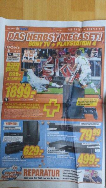 Sony 4K 3D LED-TV KD 55 X 8505 + PS4 für 1899,- (lokal expert TeVi Nürnberg)