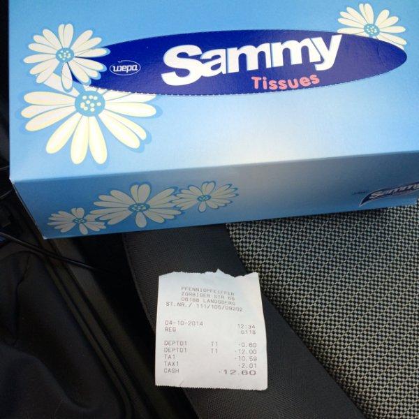 """""""Sammy"""" Taschentücher"""