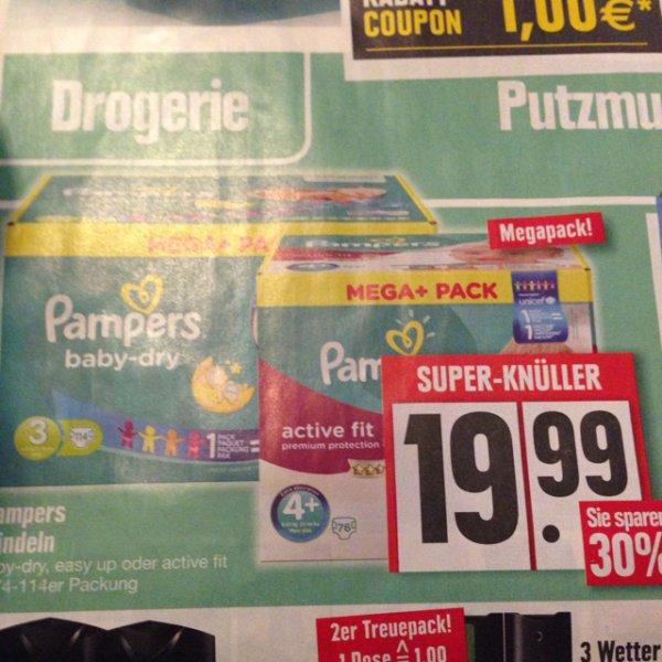 [lokal] Edeka PAMPERS mega+pack -30%