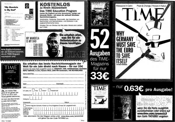 Time Magazin bis zu 85% sparen