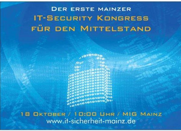 Mainz IT-Sicherheitskongress 18.10.2014 kostenloser Eintritt mit Gutscheincode