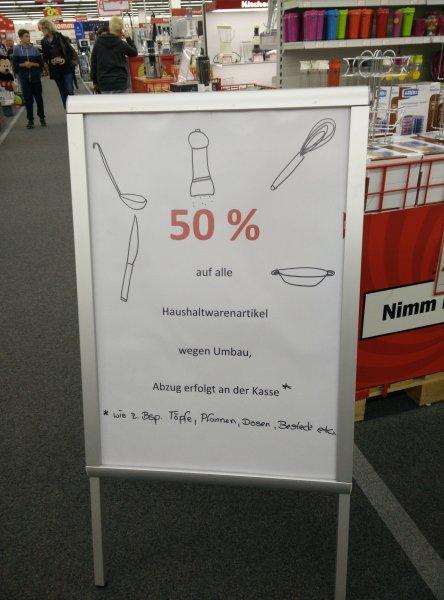 [lokal Rostock] MediaMarkt 50% auf alle Haushaltsartikel