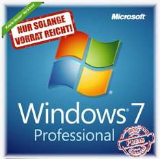 Update: Windows 7 Professional 32/64 Bit Deutsch COA Lizenzaufkleber @ Ebay
