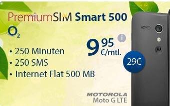 Motorola Moto G LTE + PremiumSIM Smart 500 @ etelon