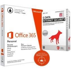 [CYBERPORT] Microsoft Office 365 Personal (1PC/MAC + 1 Tablet - inkl. 1TB OneDrive Cloud Speicher) + G Data Internet Security 2015 für 39,90€ inkl. Versand (gleicher Preis bei Abholung)