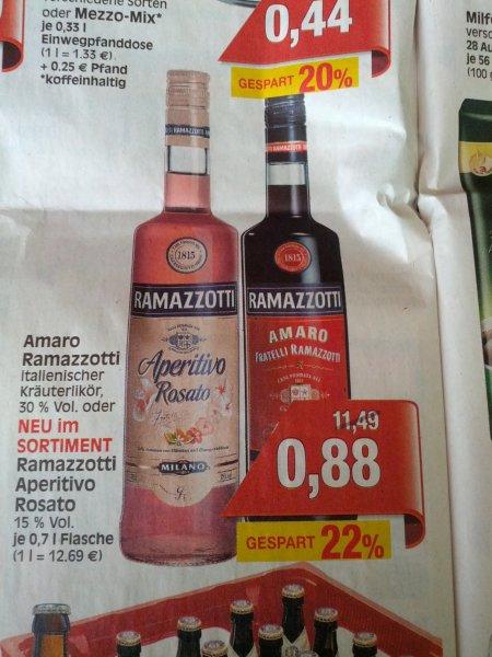 [LOKAL / Baunatal Ratio ] Amaro Ramazotti 0,88 ct PREISFEHLER?! also 8,88 denk ich