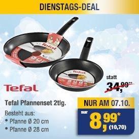 [METRO] Tefal Pfannenset 2tlg. am Di 07.10 für 10,70 EURO statt 34,99 EURO