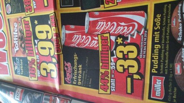 [Norma] Coca Cola Dose 0,33 Liter für 33 Cent