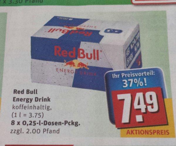 Red Bull 8 Stück für 7,49 bei Rewe