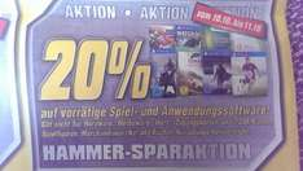 20% auf alle Games und Software - 10.10. - 11.10. im Medimax [Bundesweit]