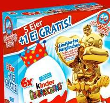 5 +1 Ü-Ei Kinder Überraschung ab Montag bei Penny jetzt für 2,75€