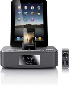 Philips DC390/ Dockingstation für iPod/iPhone/iPad /Duales Dock aus Aluminium
