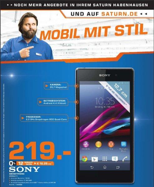 Sony Xperia Z1 Schwarz LTE 16GB im Saturn Bremen-Habenhausen für 219 Euro