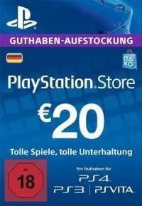 Sony PlayStation Network - Live Cards 20 EUR - Conrad Computer Bild Aktion für 12 EUR