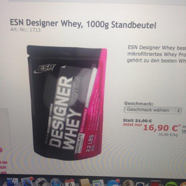 Fitnessprodukte Designerwhey sehr günstig