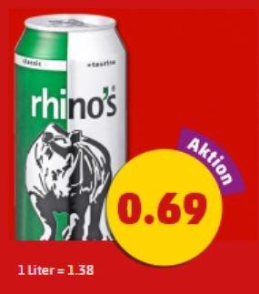 Rhino's Energy die 0,5 Liter Dose für nur 0,69€ @Penny