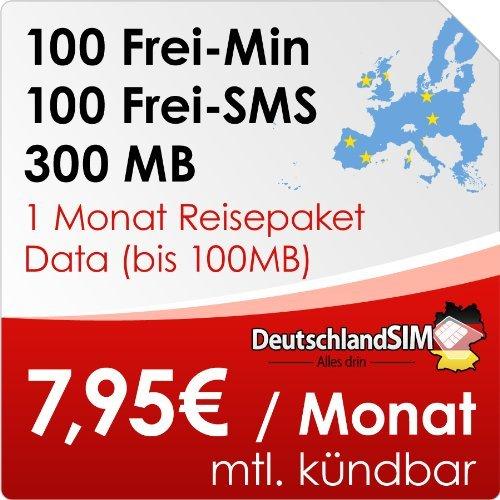 [amazon Blitzdeal] DeutschlandSIM SMART 100 EU im Vodafone-Netz