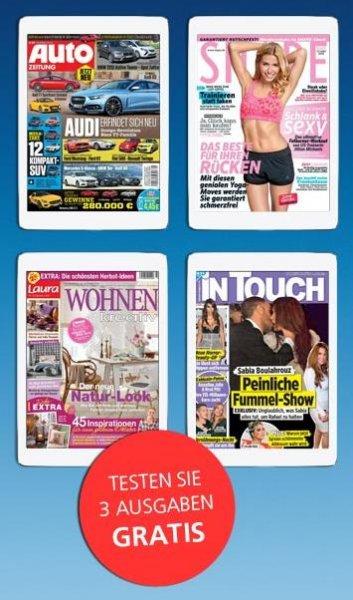 3 Ausgaben der Magazine - Autozeitung, inTouch, Laura Wohnen, Shape (epaper) Kostenlos